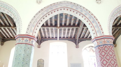 A close up and the ceiling, St Peters Theberton