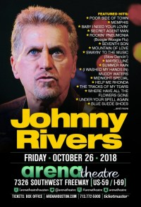 FRI - OCT 26, 2018 - JOHNNY RIVERS