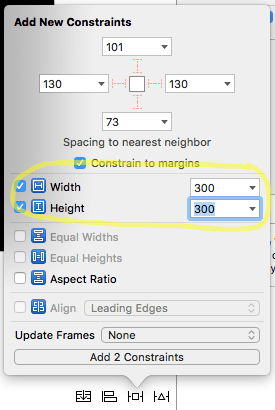 Pin height and width