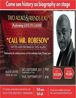Call Mr Robeson - A Stage Play