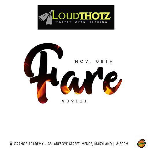 Loudthotz Poetry Open Reading S9E11 Fare