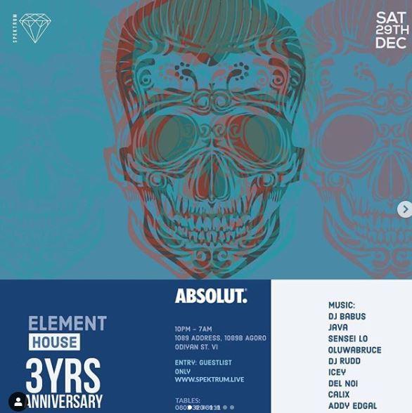 Element House 3 Years Anniversary