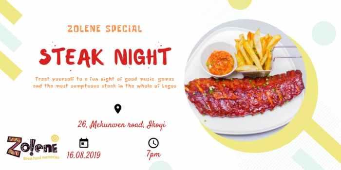 Zolene Special Steak Night