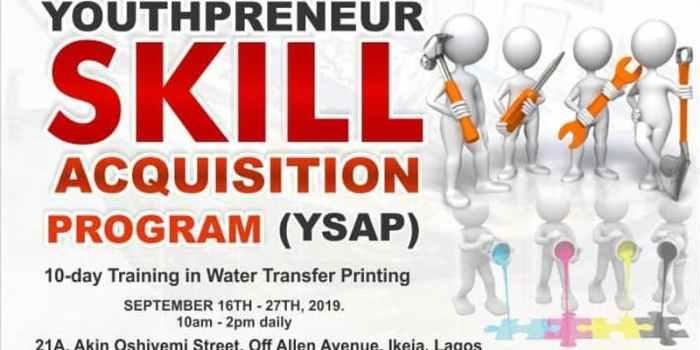 Youthpreneur Skills Acquistion Program