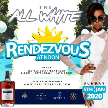 All White Party Rendezvous at Noonn