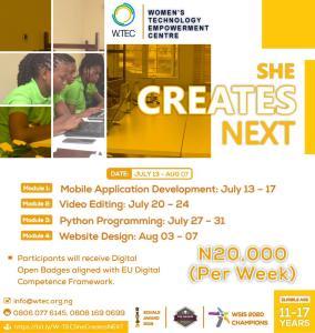 she create