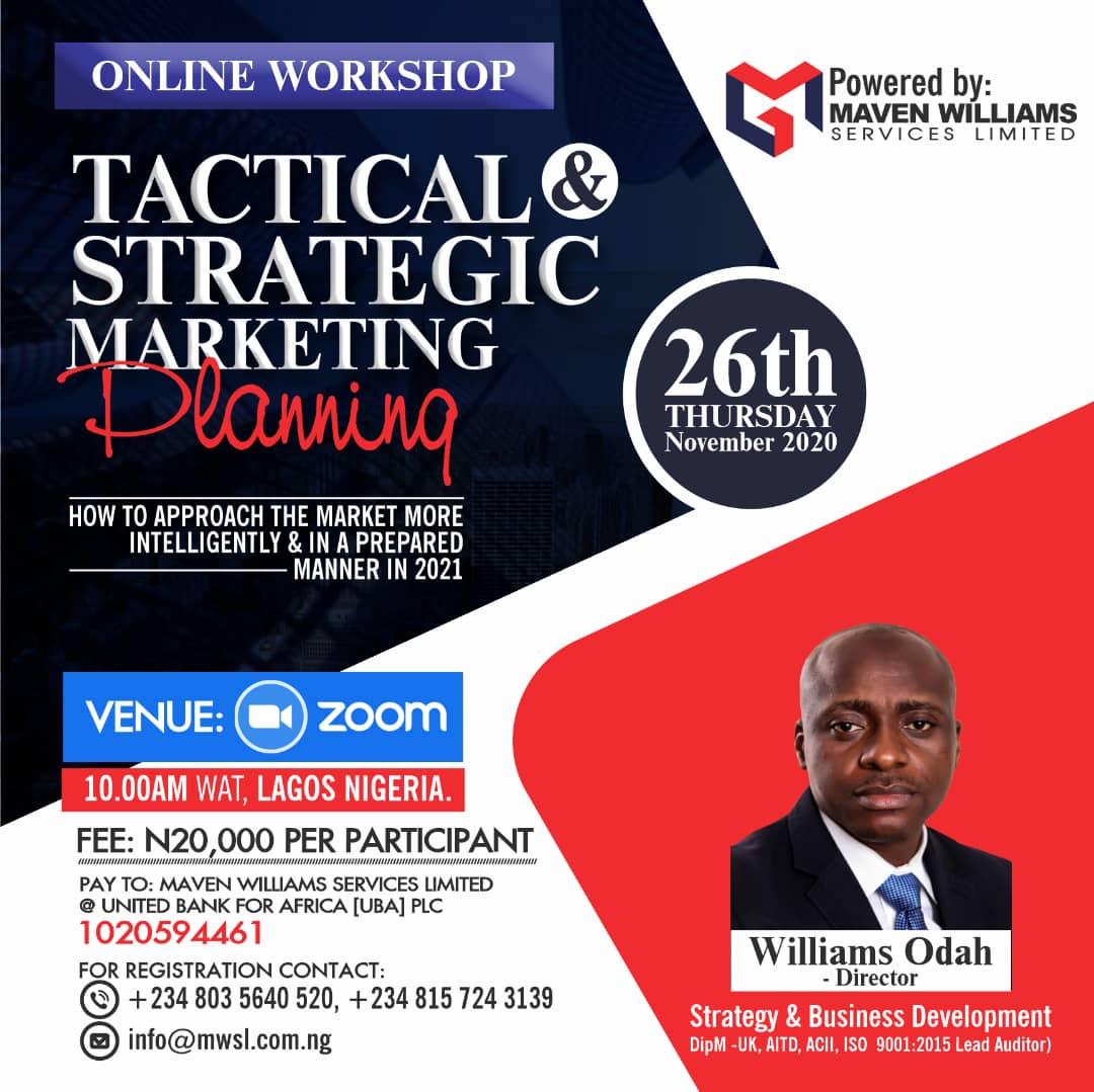 Tactical & Strategic Marketing Planning Workshop