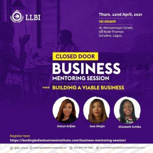 Closed Door Business Mentoring Session