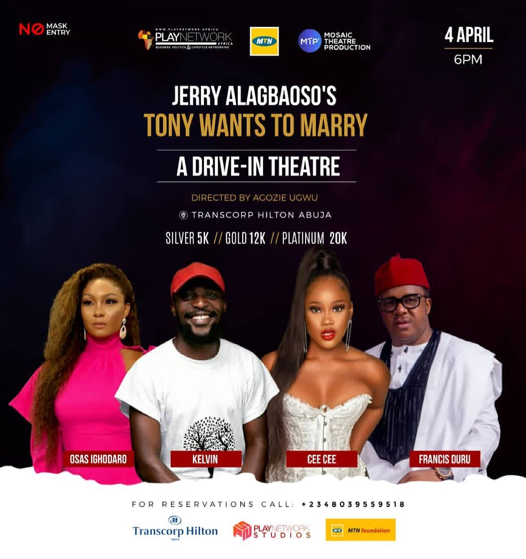 Jerry Alagbado's Tony Wants to Marry
