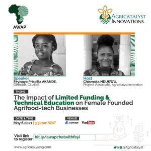 The Impact Of Limited Funding And Technical Education On Female Founded Agrifood-Tech Business