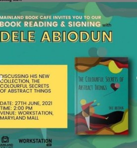 Booking Reading & Signing With Dele Abiodun
