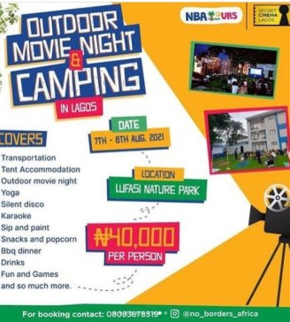 Outdoor Movie Night & Camping in Lagos