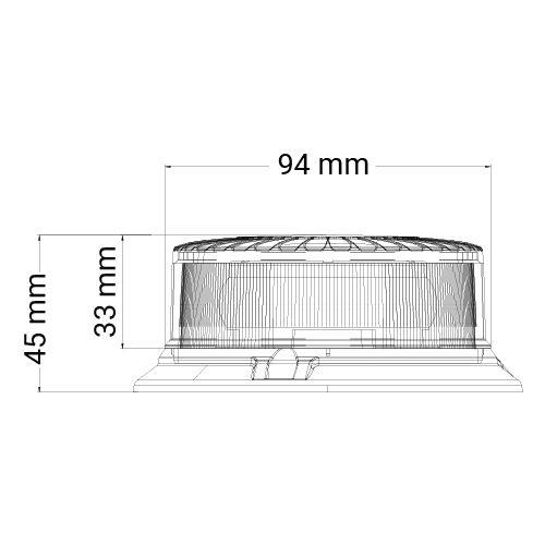 VARNINGSLJUS MINI LED R65 PLANMONT