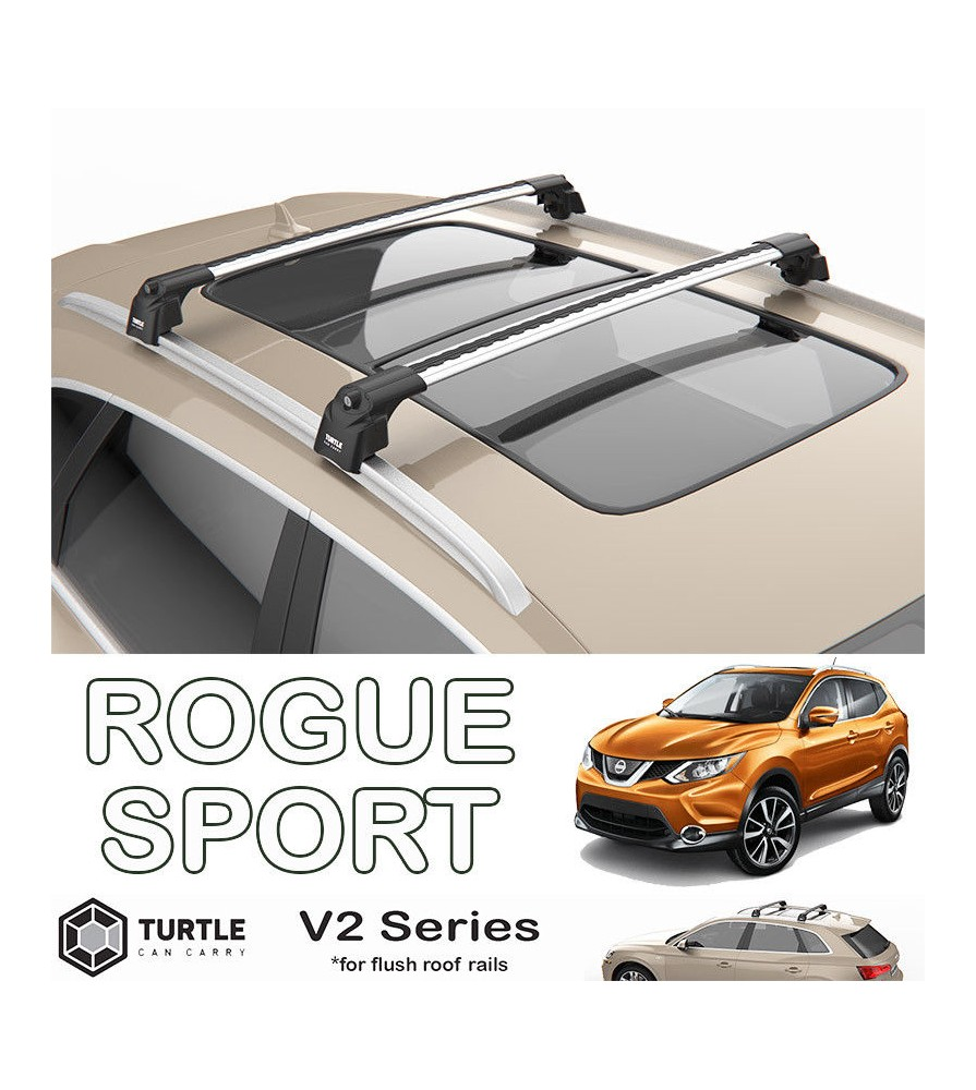 nissan rogue turtle roof bars racks set upper t track with quickacces