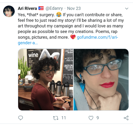 Transgender Person Who Applied To Work For Tb Last Year Starts Gofundmes For -7755
