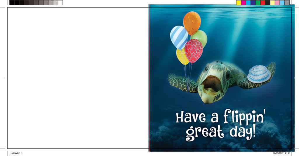 Design your own greeting card: example crease
