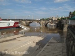 When we arrived in Dresden it was just recovering from the worst flood since 2002. The river was still receding.