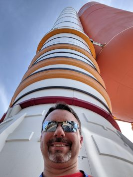 Michael and the Shuttle SRB