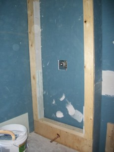 Drywall Install, Shower/ Bath Frame