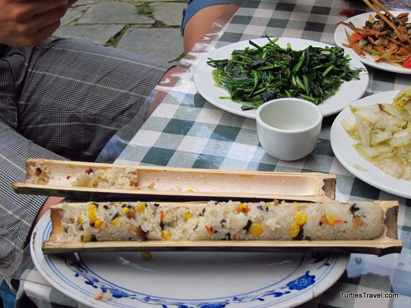 Lunch at the Longsheng Rice Terraces