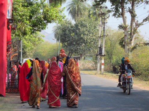 Women on the Way to a Gathering