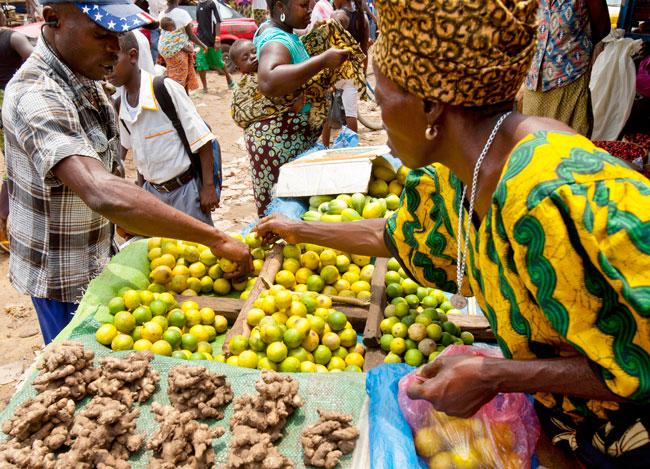 Waterloo Market, Sierra Leone