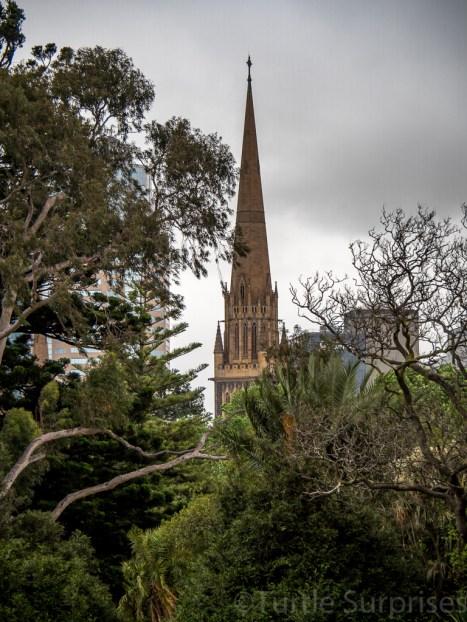Fitzroy Gardens Looking Towards St Patrick's