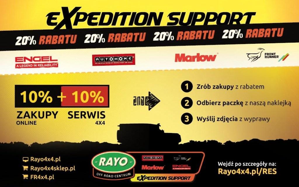 Rayo Expedition Support czyli wsparcie dla podróżników