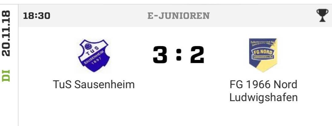 E-Junioren ziehen ins Halbfinale des Kreispokals Rhein-Pfalz ein