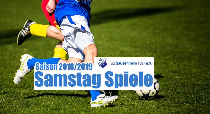 Spielplan des TuS Sausenheim für Samstag 16.03.2019