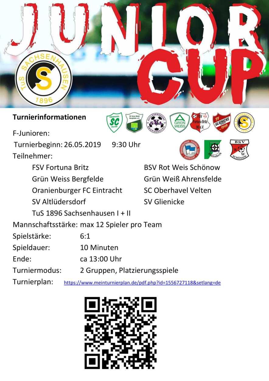 Turnier Informationen F-Junioren-1