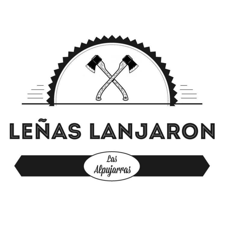 Lenas Lanjaron company logo featuring two axes crossed under a sunshine