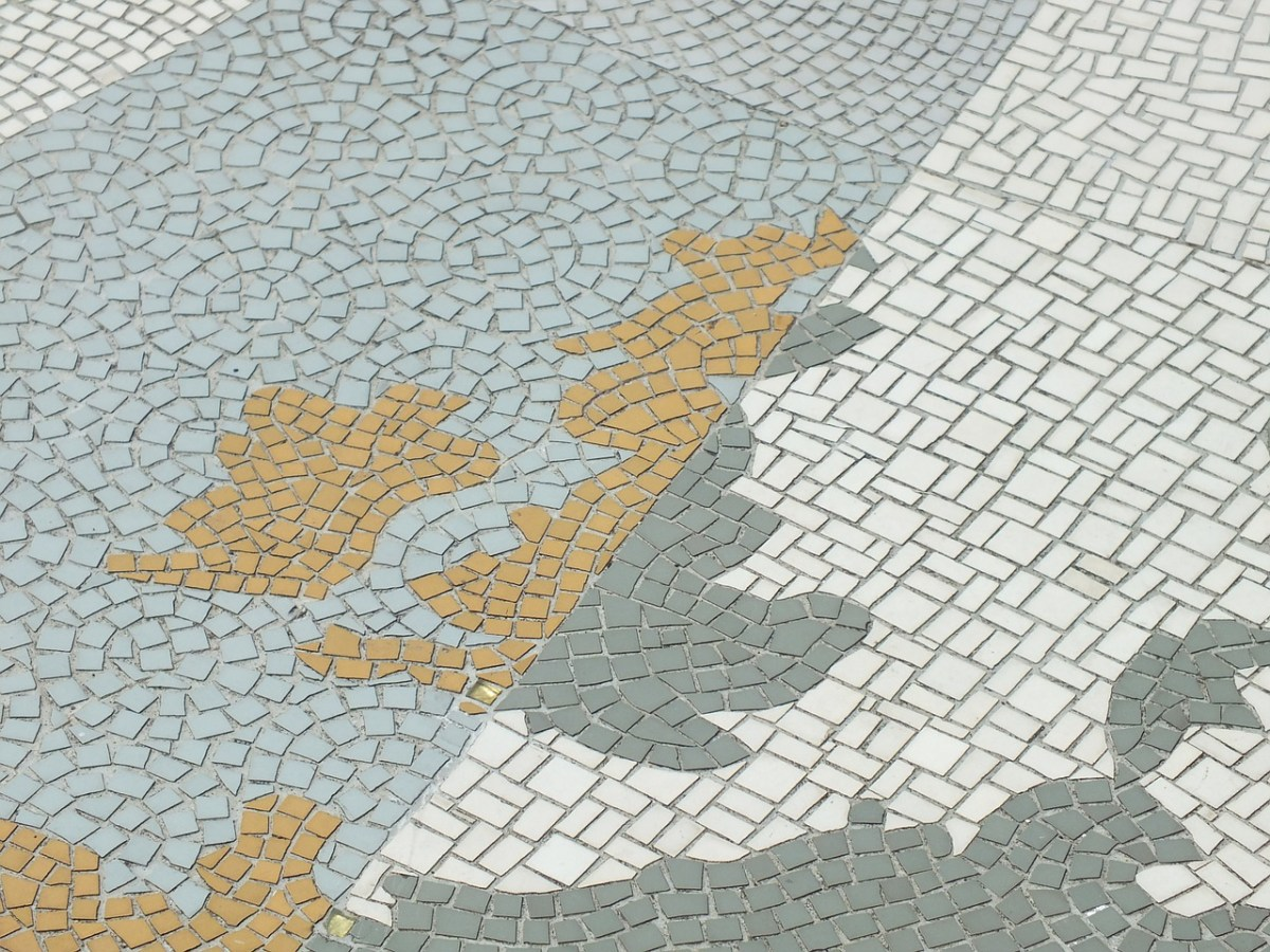 a mosaic of the United Kingdom