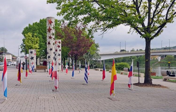 Schengen area country flags