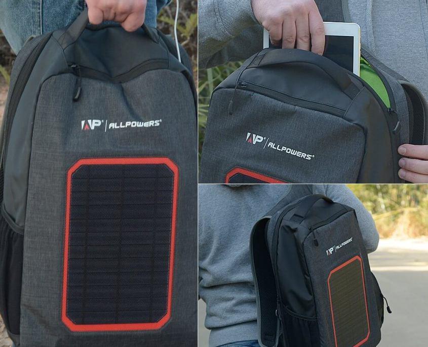 Mochila con Panel Solar y Puerto USB - ALLPOWERS 7