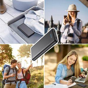 🔋 Batería Externa iPosible 24800mAh ▷ Power Bank con【2 Puertos USB⚡】 6