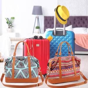 Bolso de Viaje ▷ para Mujer con Puerto USB ⚡ Impermeable 4