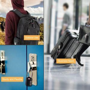 Candados de Combinación TSA Diyife ▷ de Anillla Larga y Cable Flexible 7