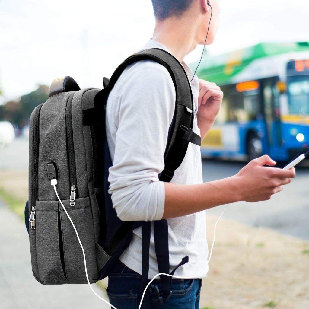 Mochila Escolar INATECK ≫ con Puerto USB ⚡ para Portátiles 1