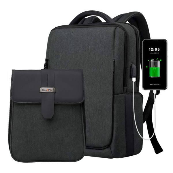 Mochila Antirrobo con USB Impermeable y Desmontable BESCHOI