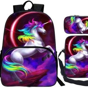 mochila de unicornio escolar para niños