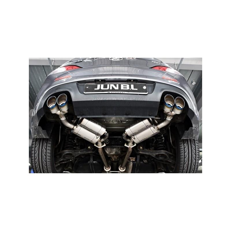jun bl 3 8mpi 3 8 gdi titanium exhaust genesis coupe