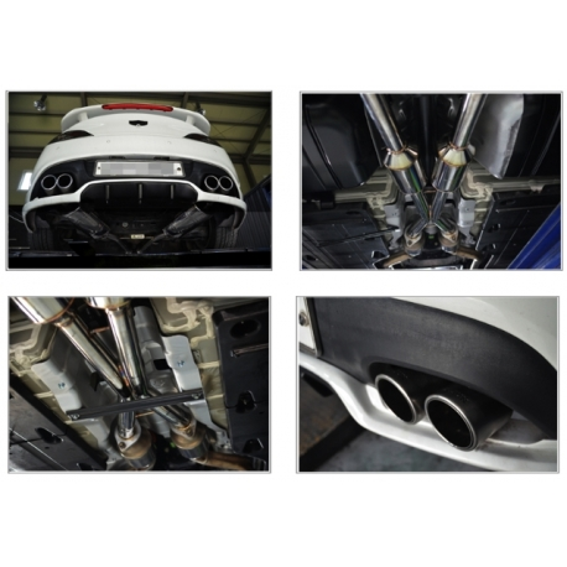 ajun 3 8 racing exhaust genesis coupe