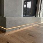 Modern Stone LED Fireplace Designs by Tuscan Stoneworx Edmonton & Calgary Alberta