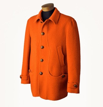 A traditional Casentino, the coat of choice for the stylish young NDP candidate