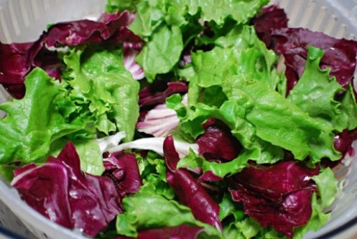 Fresh greens are all a salad needs