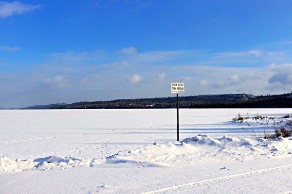 North Gunflint Lake Snow Plow Turnaround
