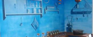 Una de las habitaciones del Museo de los Aromas de Santa Cruz de la Salceda, en Burgos