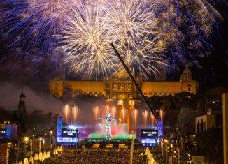 Espectáculo de fin de año en Barcelona a cargo de La Fura dels Baus