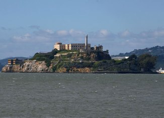 Vista de la cárcel de Alcatraz, en la isla del mismo nombre.